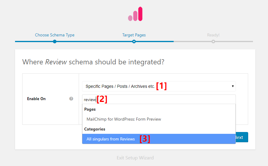 Choose where to apply schema