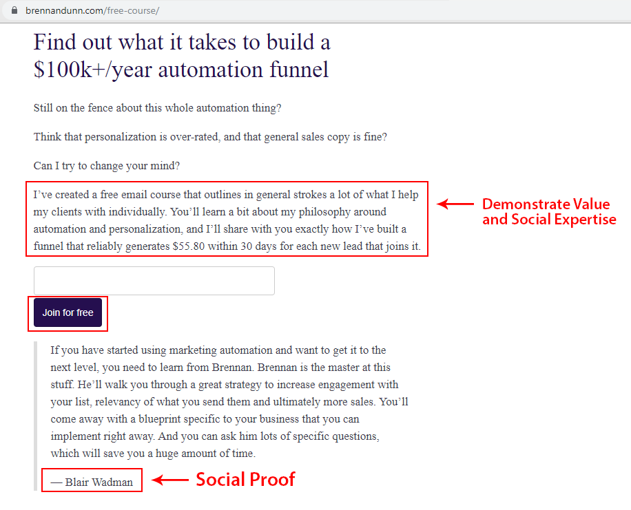 Example of Social Proof