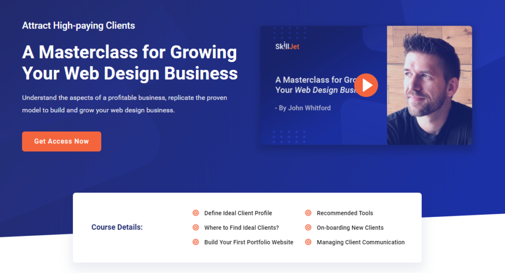 A Masterclass for Growing Your Web Design Business by John Whitford on SkillJet
