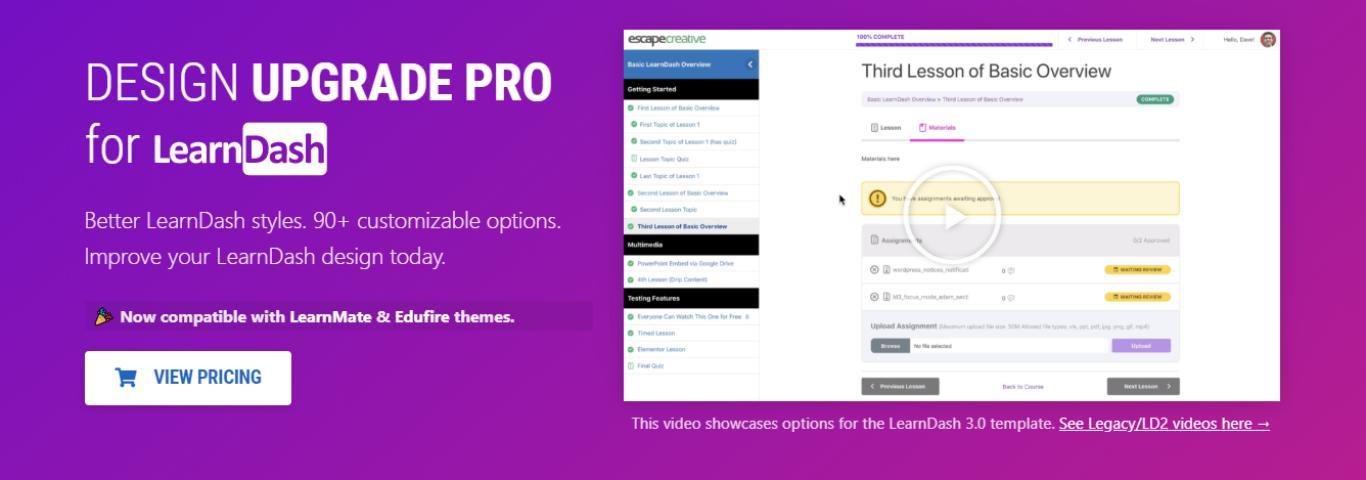 Design Upgrade Pro for LearnDash.