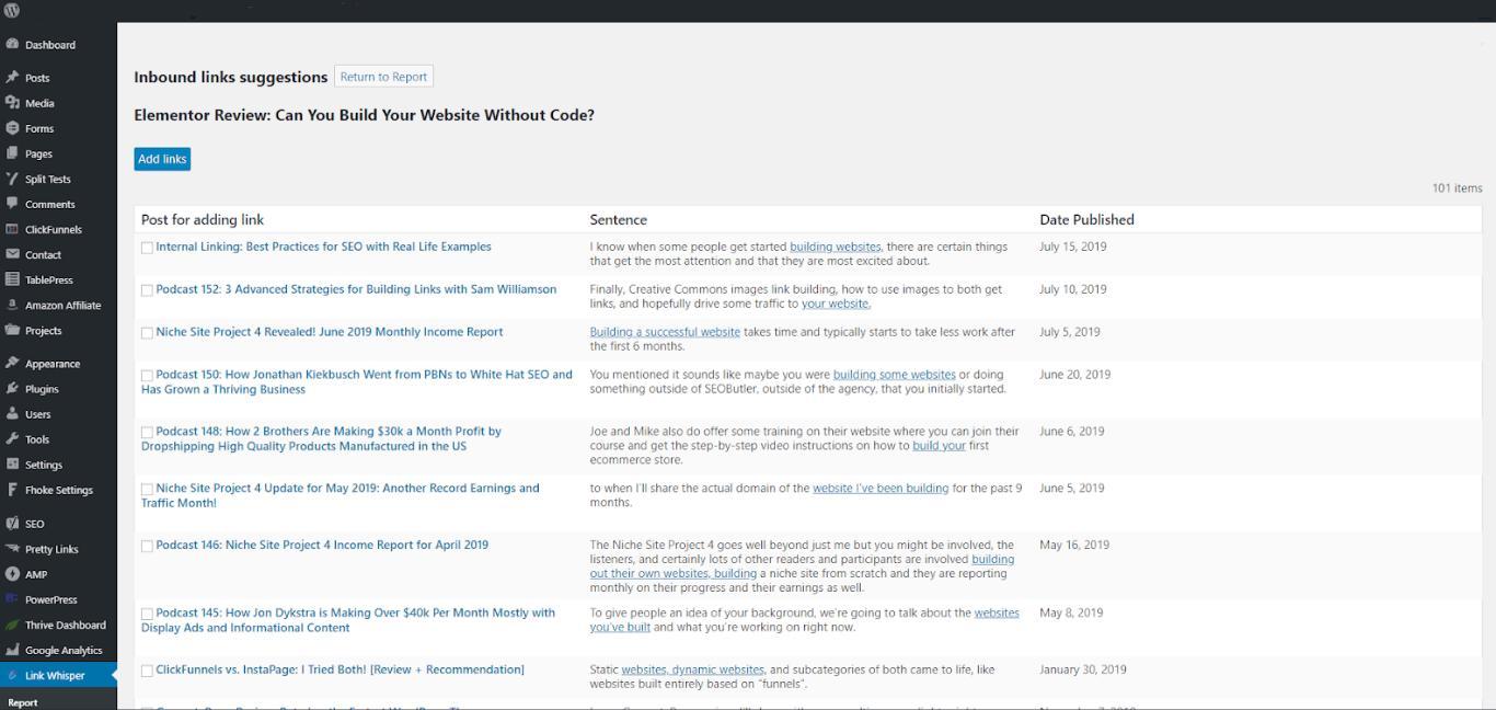 link whisper build internal links