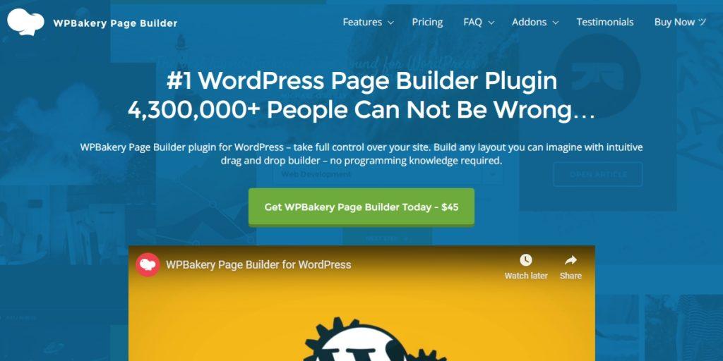WPBakery Page Builder Homepage