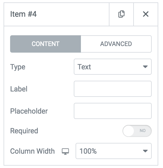 adding fields to contact form widget on elementor