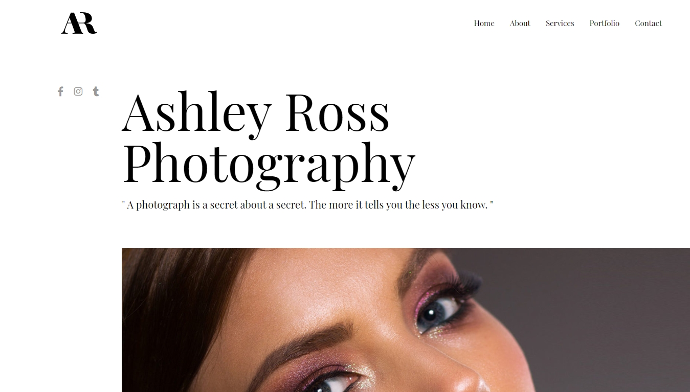 ahsley ross photography template by astra
