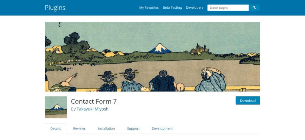Contact form 7 plugin in wordpress.org
