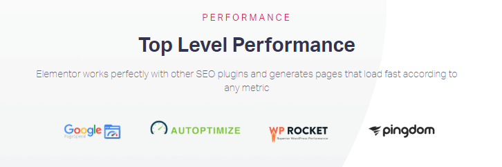 elementor top level performance features