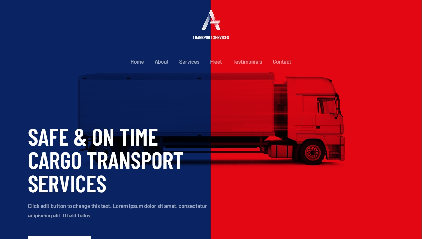 astra transport services template