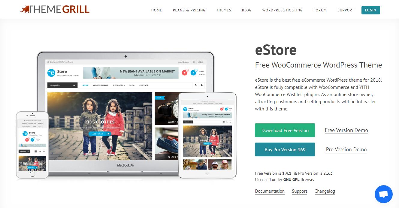 Best WooCommerce Themes - eStore Pro