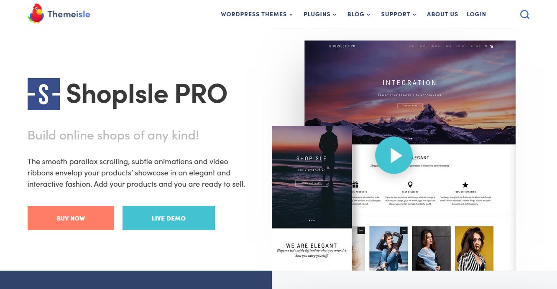 Best WooCommerce Themes - ShopIsle PRO