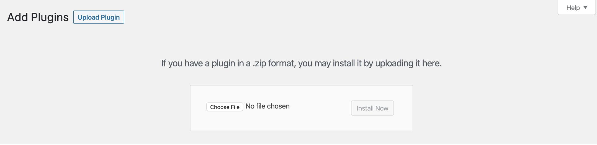 wordpress add plugins section menu