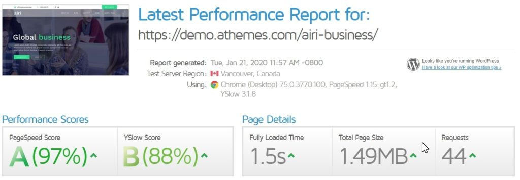 airi business speedtest