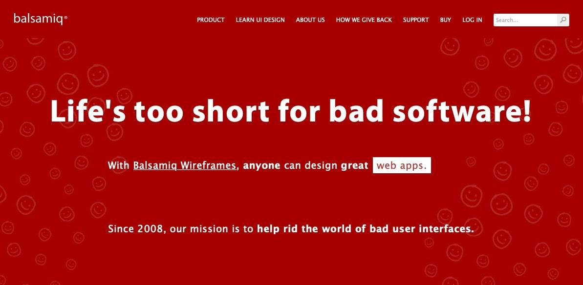 balsamiq homepage