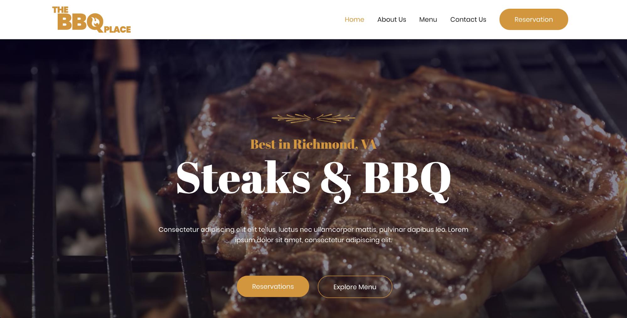 bbq restaurant astra starter site