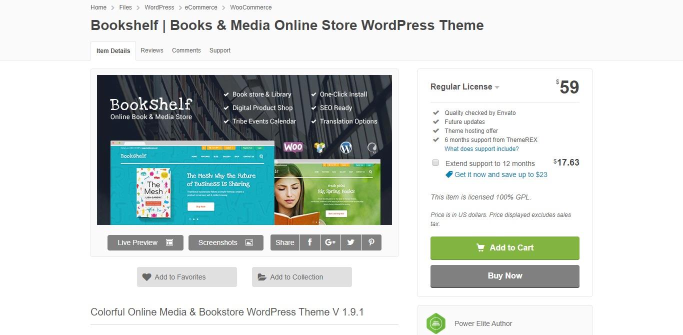 bookshelf learndash wordpress theme homepage