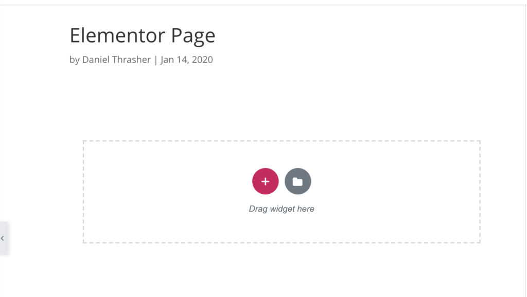 creating a new template with elementor