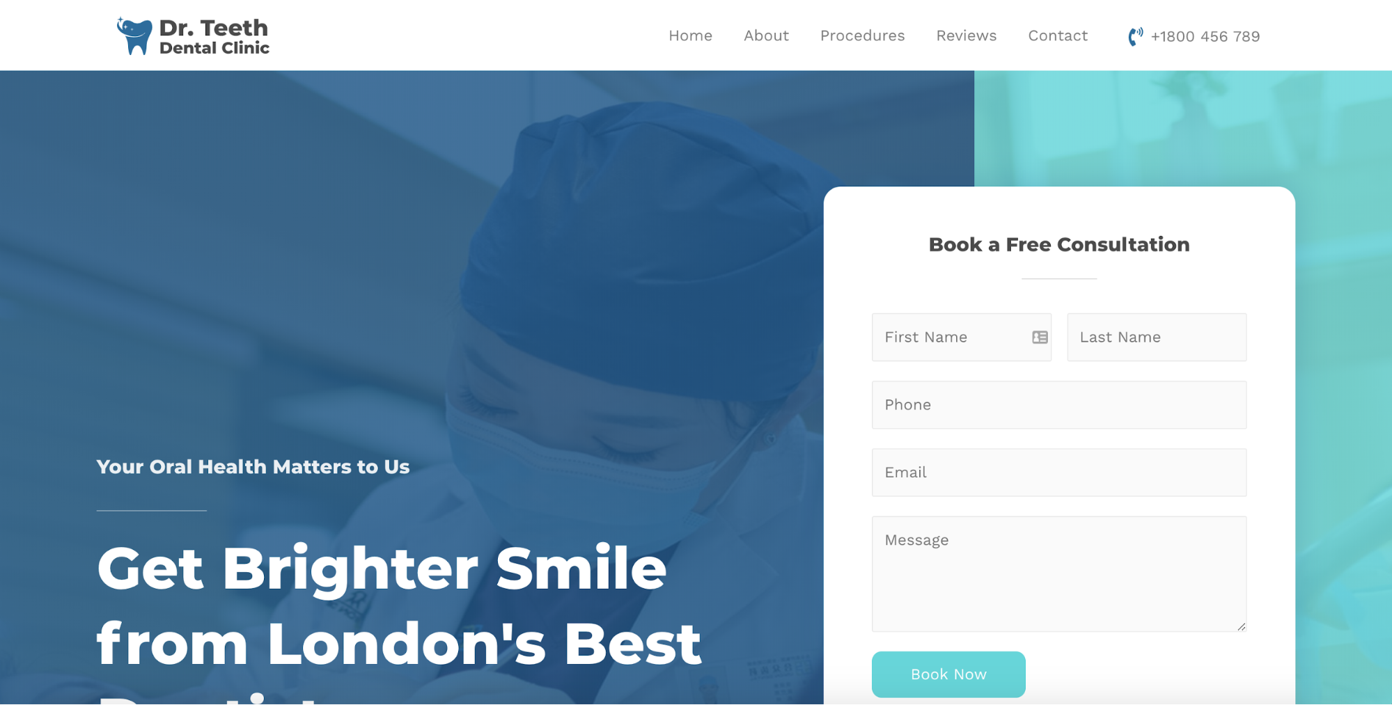 dentist clinic astra starter site