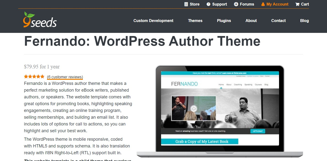 fernando learndash wordpress theme homepage