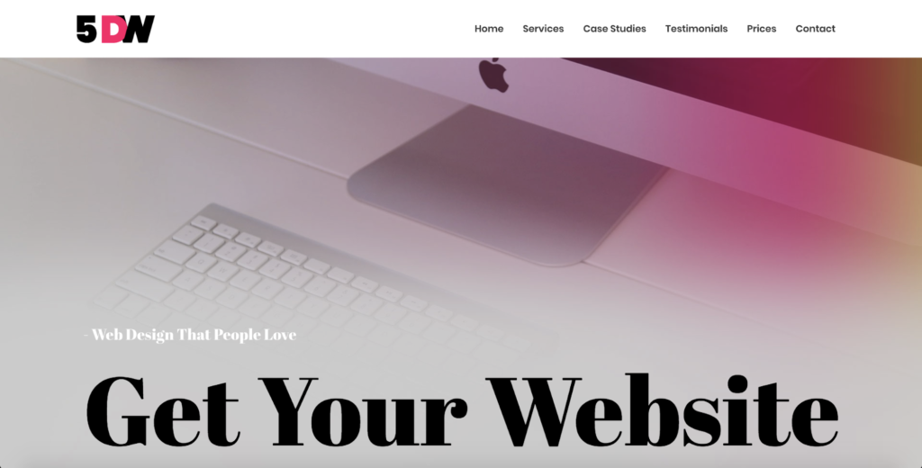 five days website astra starter site