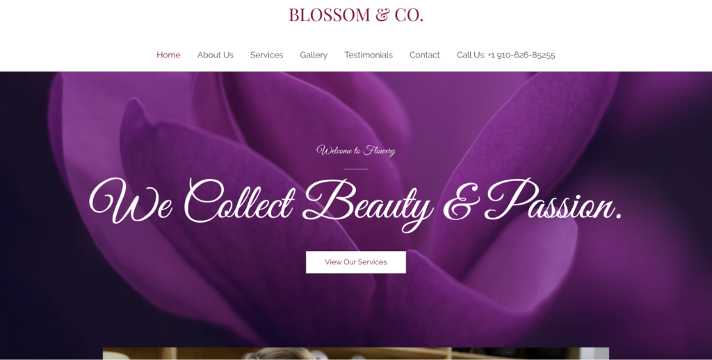 florist astra starter site