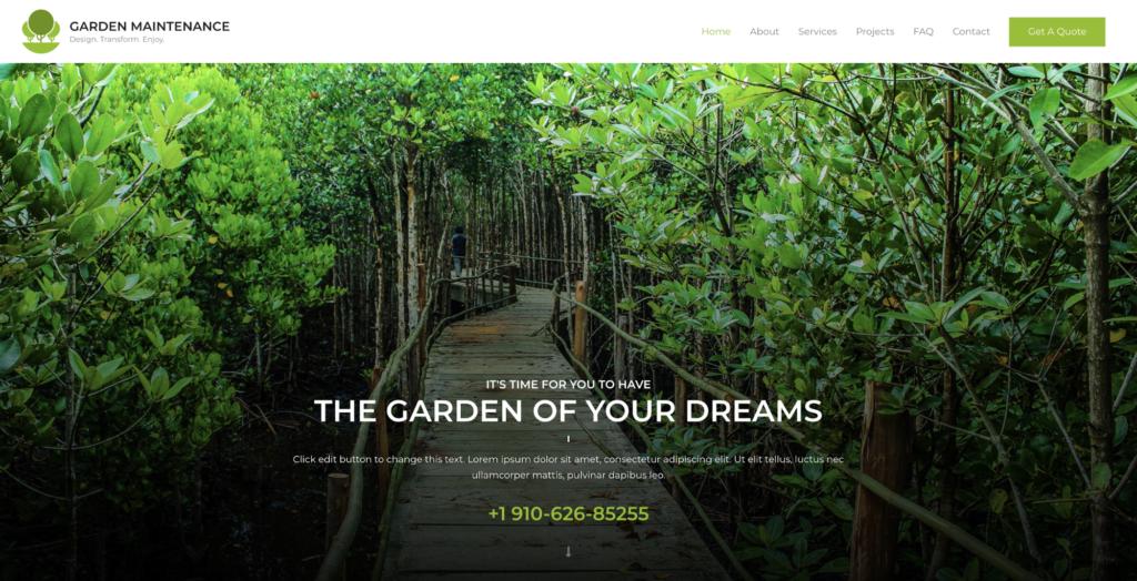 garden maintenance astra starter site