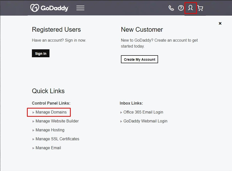 managing domains with godaddy