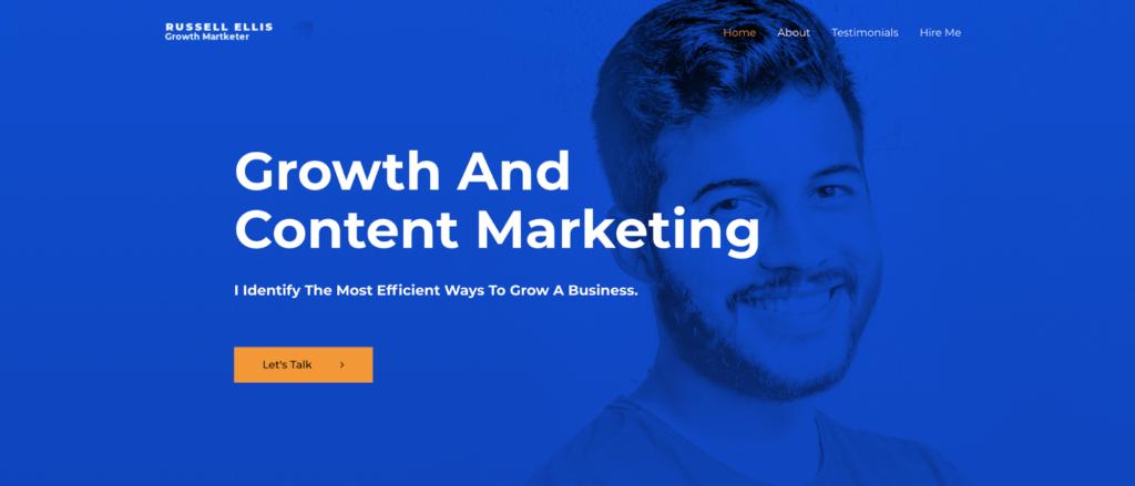growth marketer astra starter site