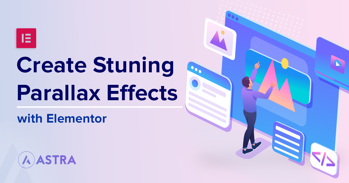 how to create parallax effects with elementor banner
