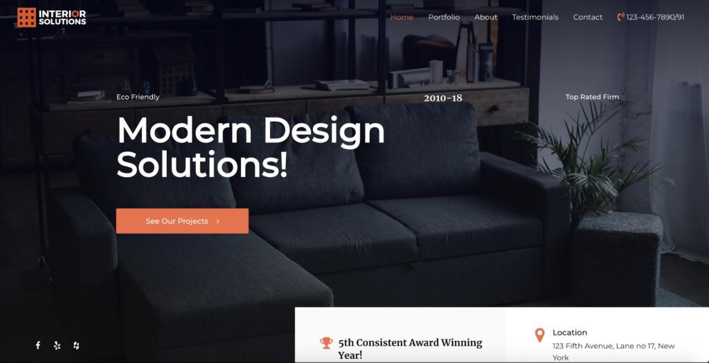 interior design astra starter site