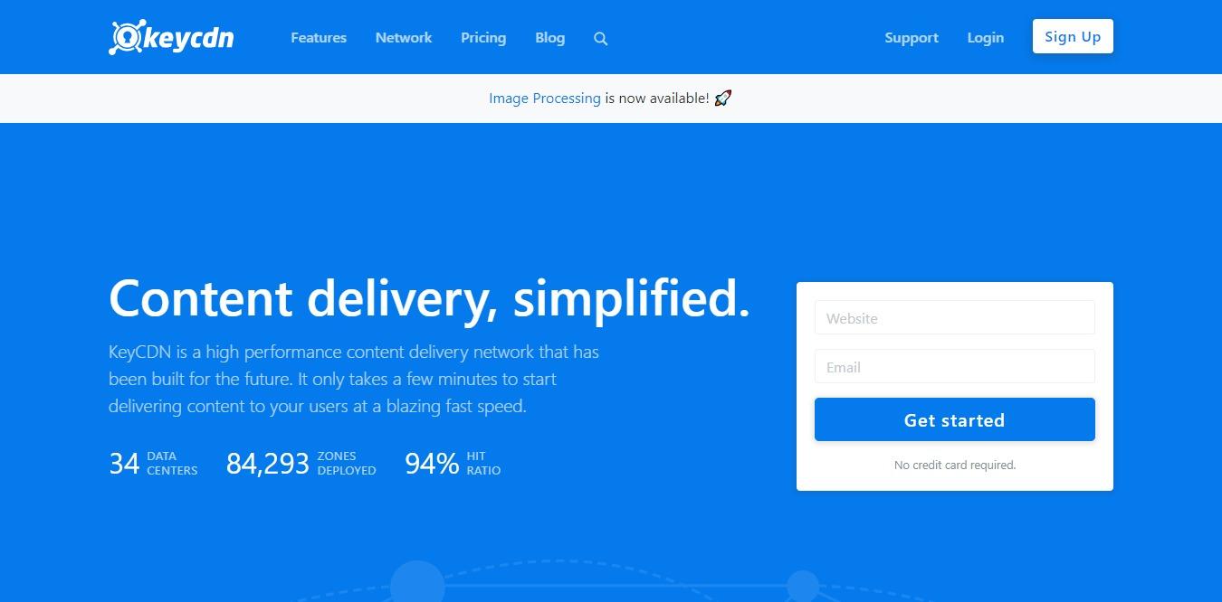 keycdn homepage screenshot