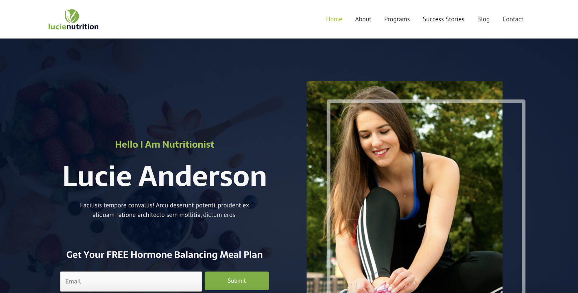 nutritionist astra starter site
