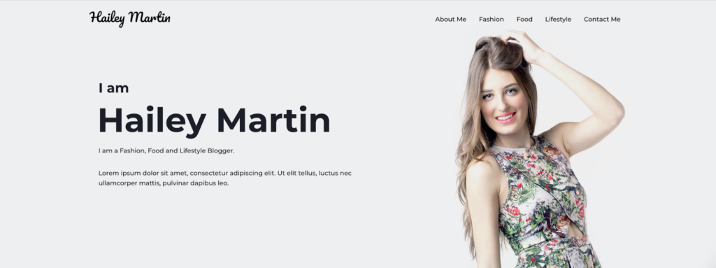 personal blog astra starter site