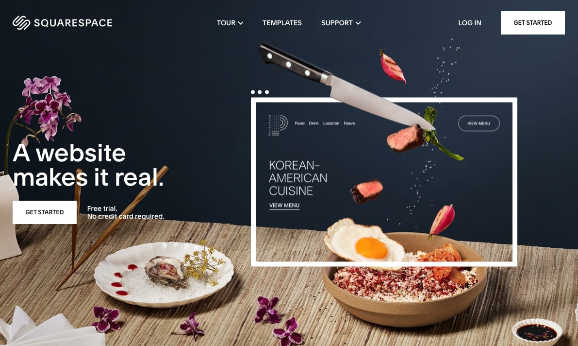 squarespacce homepage
