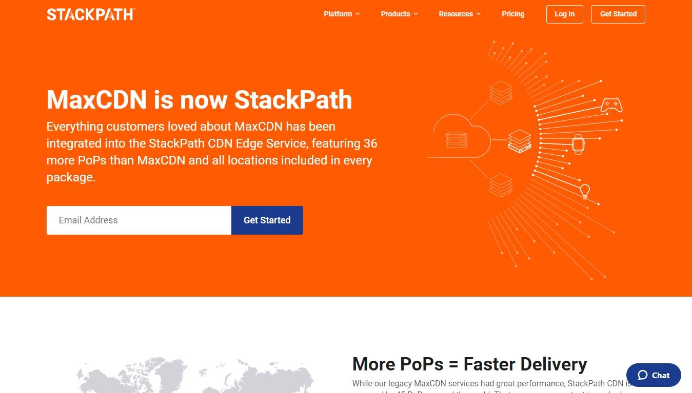 stackpath cdn homepage screenshot