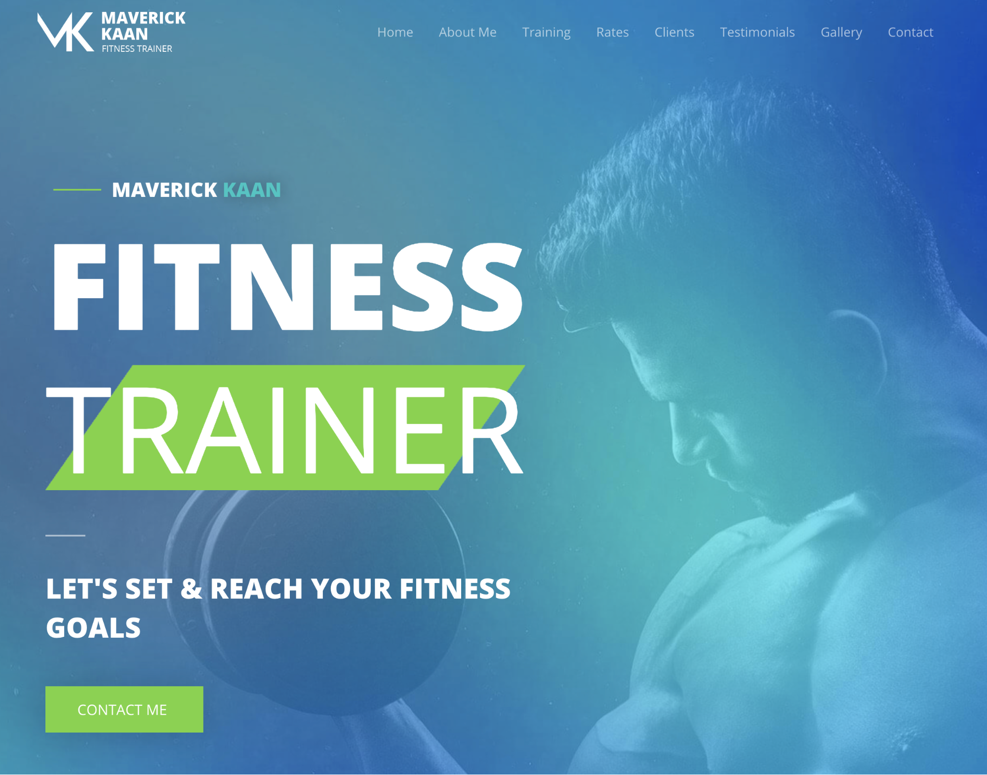astra fitness trainer starter site with elementor with guy boxing in the background