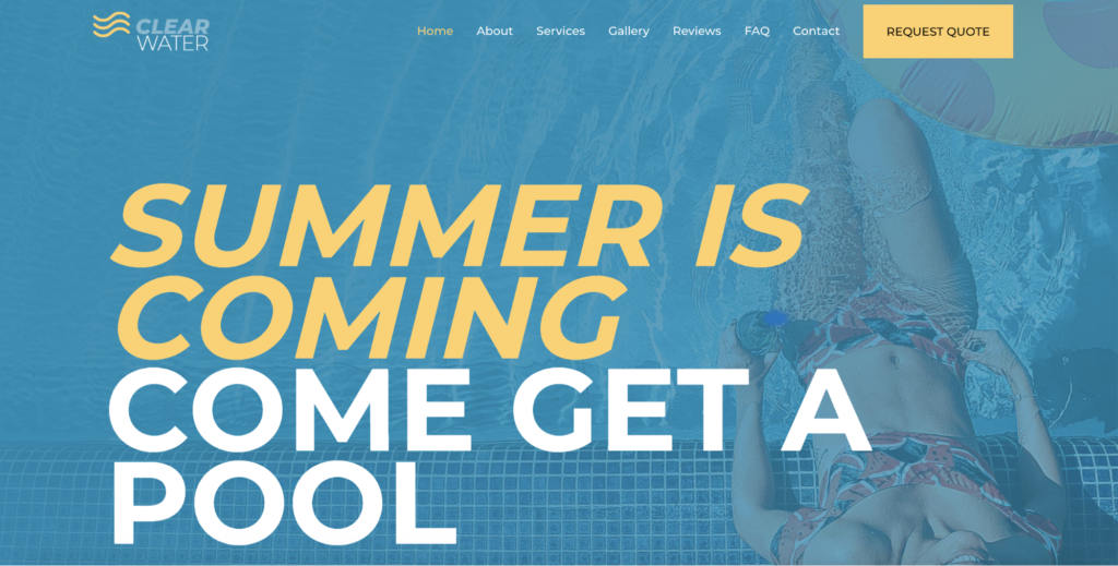 swimming pool services astra starter site