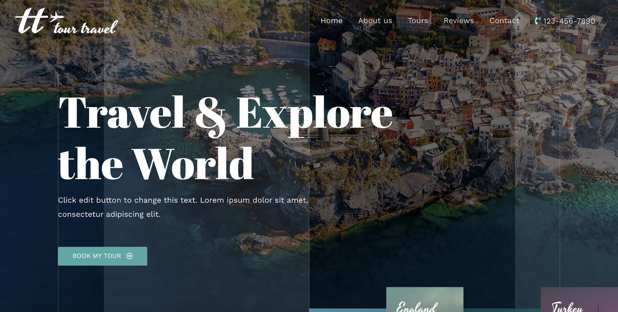 travel agency astra starter site