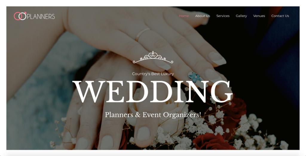 wedding planner astra starter site