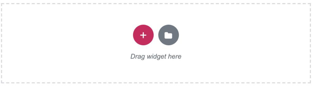 elementor widget area