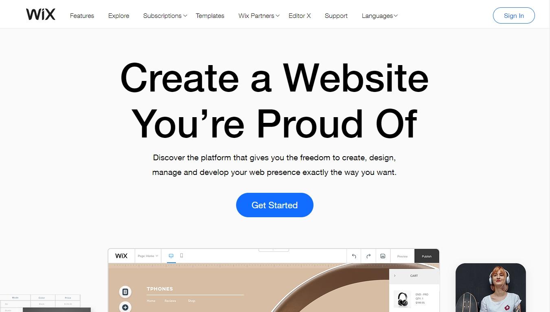 wix homepage