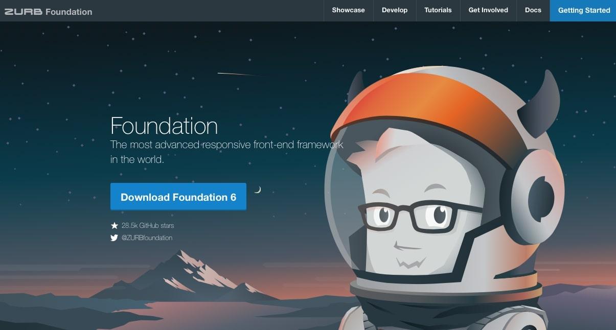 zurb foundation homepage