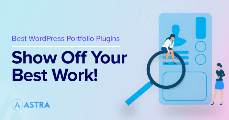 Best WordPress portfolio plugins featured image
