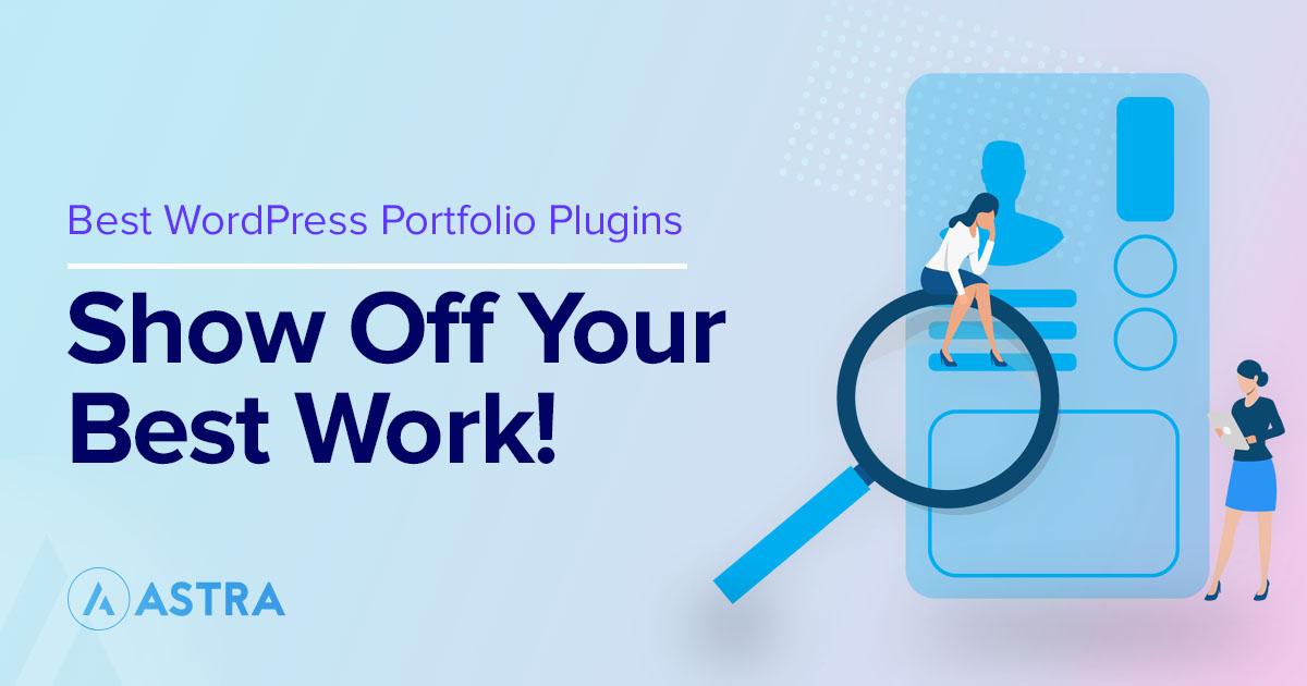 Best WordPress portfolio plugins featured image
