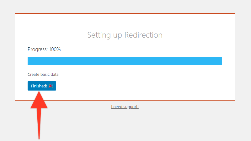 Finishing the setup for the Redirection plugin